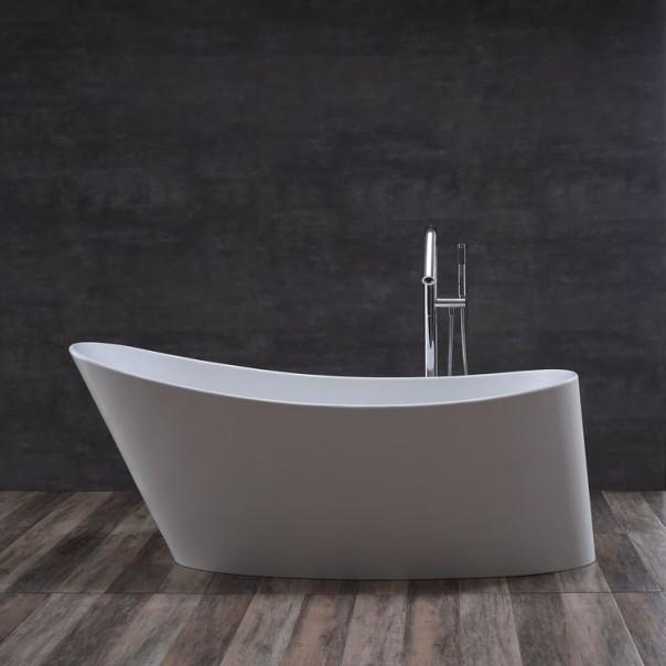 Badewanne freistehend B weiß 172 x 76 matt