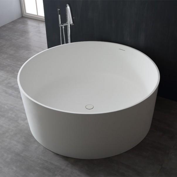Badewanne freistehend weiß 150 x 150 matt
