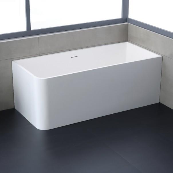 Badewanne freistehend weiß 156 x 70 matt