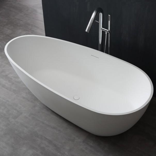 Badewanne freistehend weiß 171x85 matt