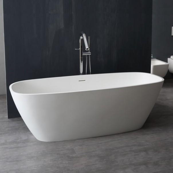 Badewanne freistehend weiß 175 x75 matt