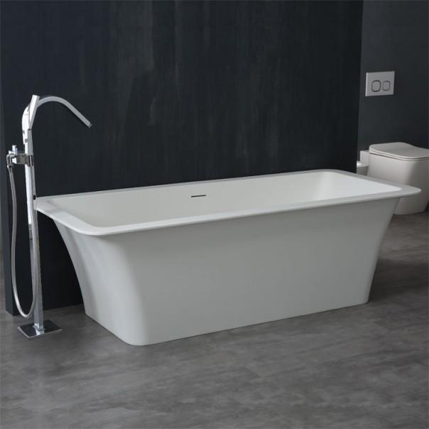 Badewanne freistehend weiß 179 x 80 matt