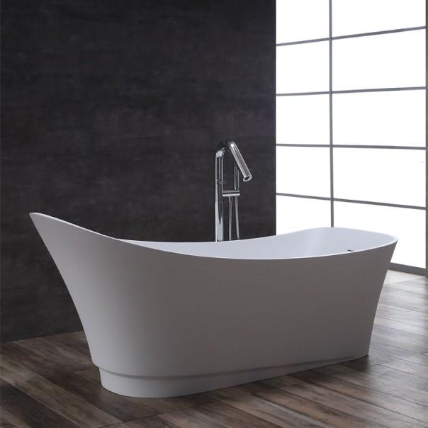 Badewanne freistehend weiß 180 x 75 matt