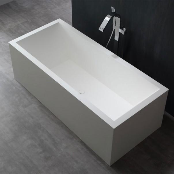 Badewanne freistehend weiß 180 x 81 matt