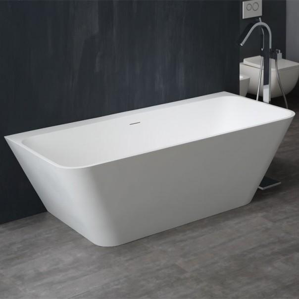 Badewanne freistehend weiß 180 x 85 matt
