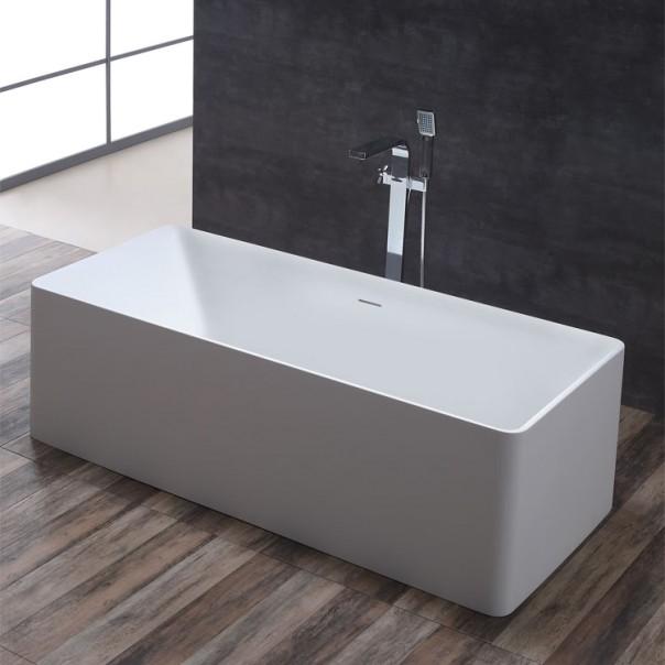 Badewanne freistehend weiß 181 x 89 matt