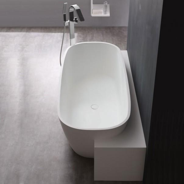 Badewanne freistehend weiß 185 x 81 matt