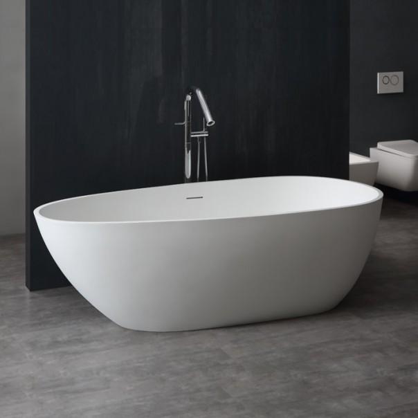 Badewanne freistehend weiß 185 x 83 matt