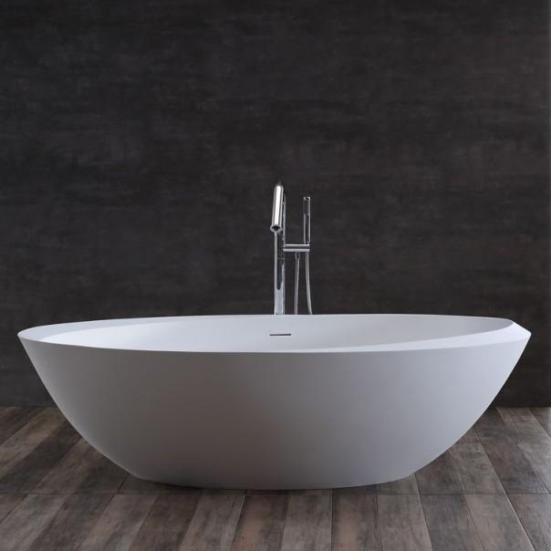 Badewanne freistehend weiß 190 x100 matt-Badausstellung-Osnabrück