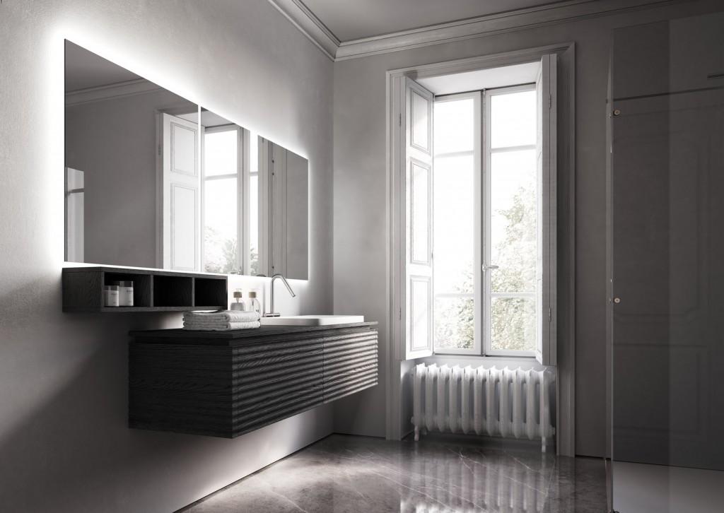 Badmöbel Ideagroup, Waschbecken Cameo aus Keramik weiß glänzend