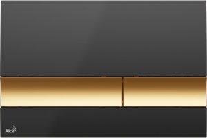 Betätigungsplatte-schwarz-gold