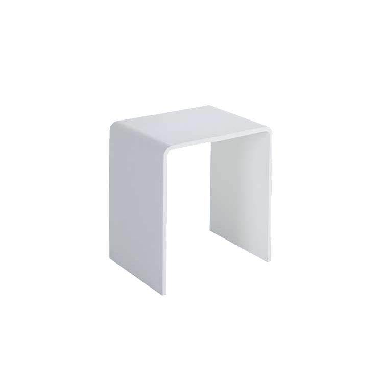 Mineralguss Hocker TQ501 400x300x435mm Mineralguss (SolidStone) weiß matt oder glänzend