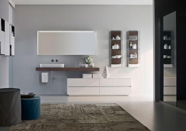 NYÙ Ideagroup Badezimmereinrichtung_Badmöbel Set - moderne Badezimmermöbel weis