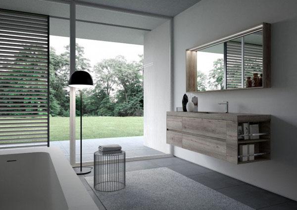 NYÙ Ideagroup Badezimmereinrichtung_Badmöbel Set - moderne Badezimmermöbel