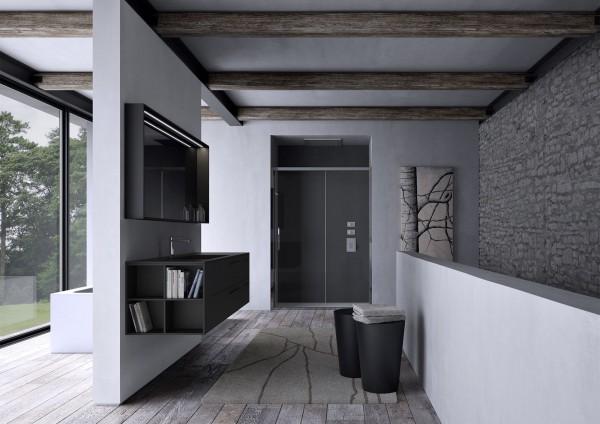 Sense Ideagroup Badezimmereinrichtung_Badmöbel Set - moderne Badezimmermöbel Schwarz