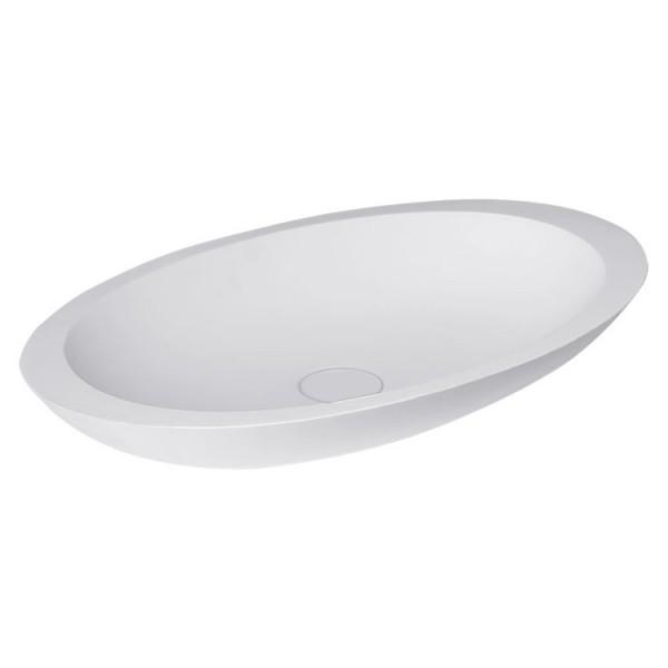 Waschbecken weiß 59x34cm matt Solid Stone