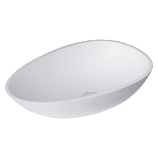Waschbecken weiß 60x35cm matt Solid Stone