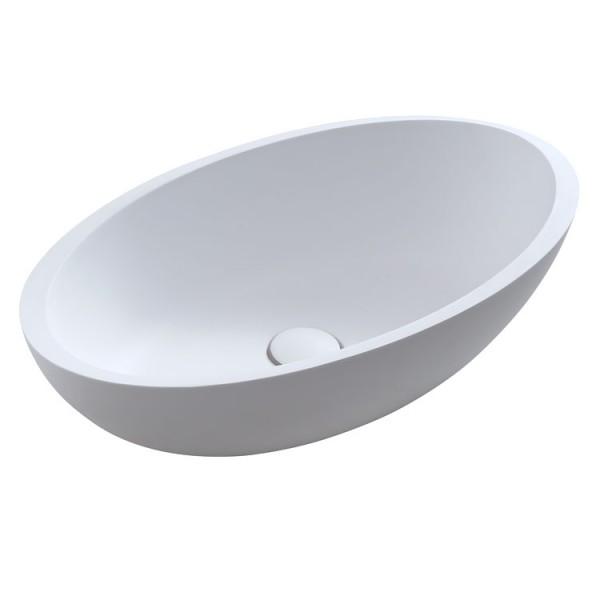 Waschbecken LC153 weiß 60x35cm matt Solid Stone