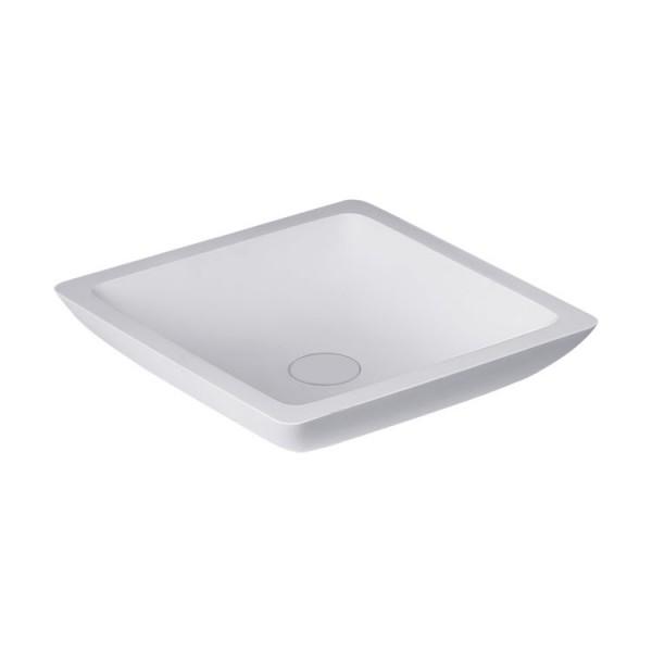 Waschbecken weiß 38x38cm matt Solid Stone