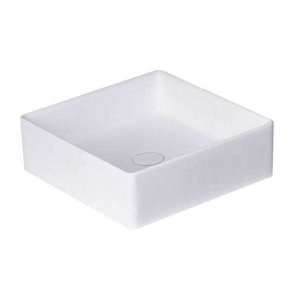 Waschbecken weiß 40x40cm matt Solid Stone