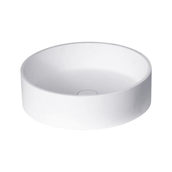 Waschbecken weiß 45x45cm matt Solid Stone