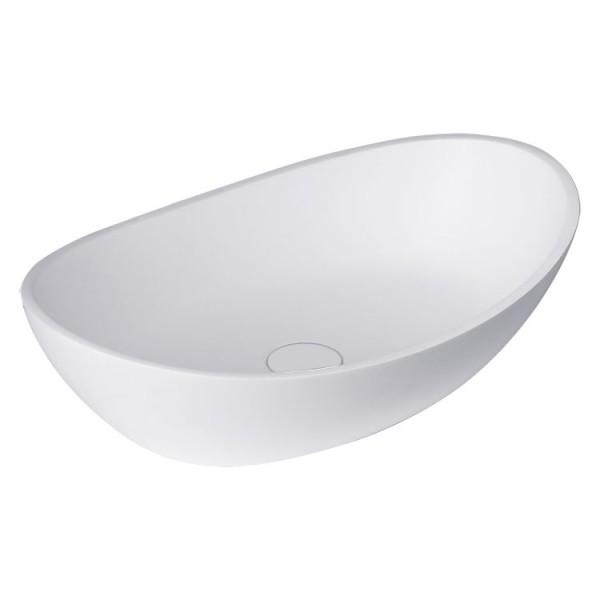 Waschbecken weiß 56x35cm matt Solid Stone